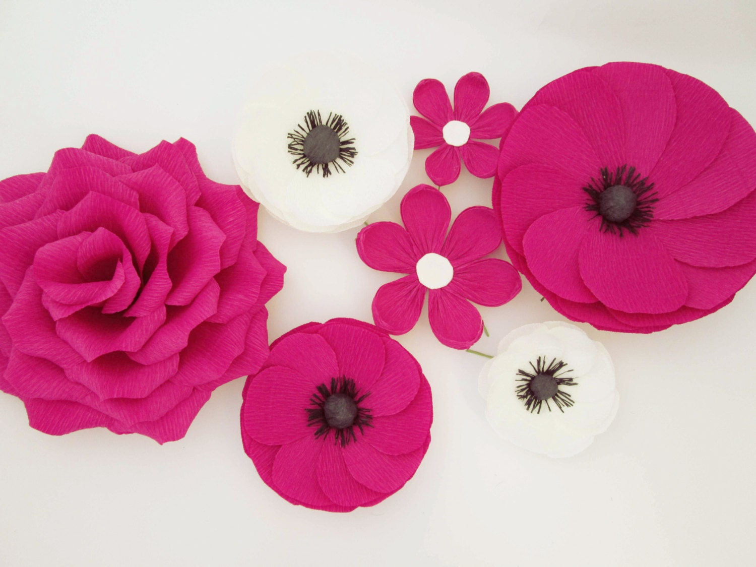 7 Paper Flowers Wall Flowers Arch Flowers Wedding Decoration