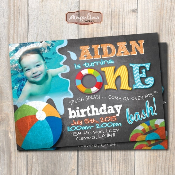 Birthday Invitation Pool Party as amazing invitation layout