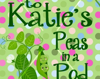 POLKA DOT PEA Welcome Sign Custom Personalized Digital Download or Printed