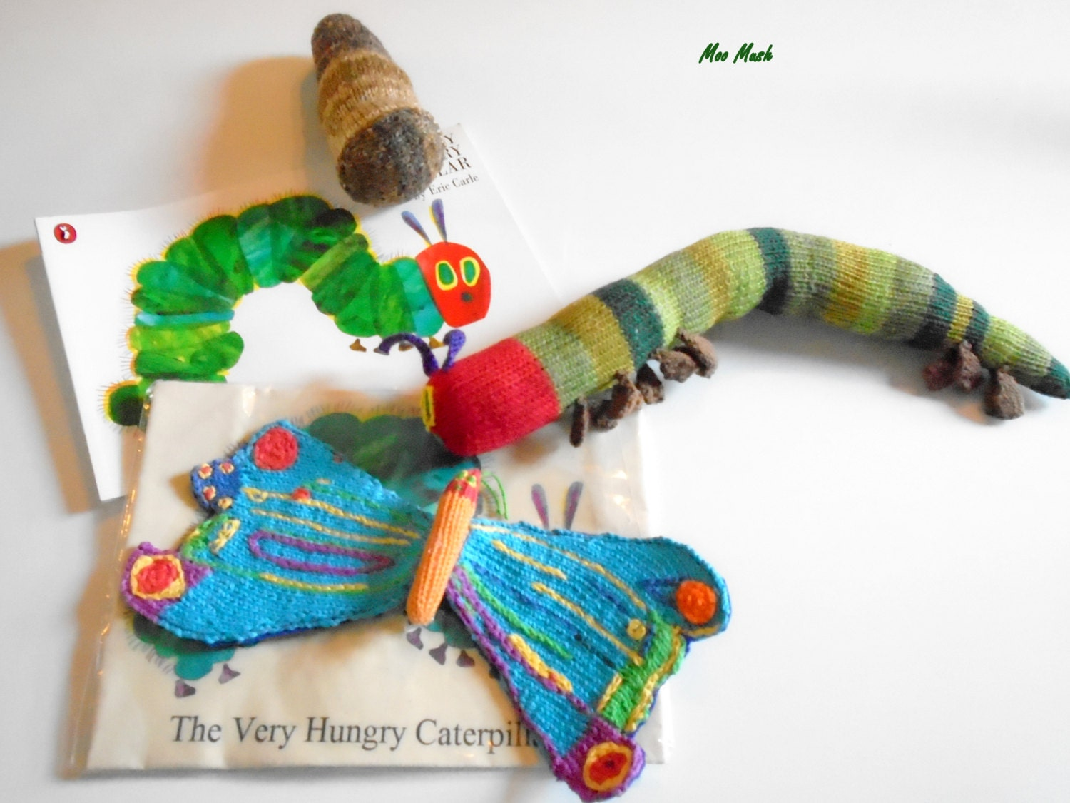 Knitting Pattern For Very Hungry Caterpillar Toy : The Very Hungry Caterpillar Soft Hand Knitted Toy with