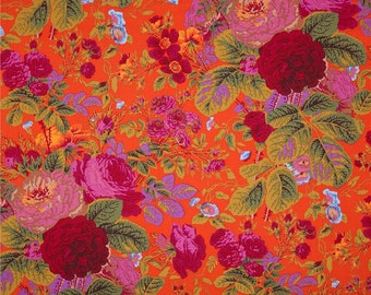Kaffe Fassett Fabric - Gradi Flora PWPJ 053 Tomato Phillip Jacobs - 100% Quality Cotton OOP and Rare Yardage