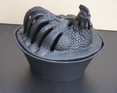 Vintage, Cast Iron Chicken Dish