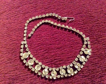 Vintage 15 inch Rhinestone Necklace