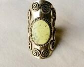 Large Vintage Aztec Ring
