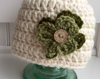 Crochet St. Patrick's Day hat/ Shamrock hat/ Crochet hat for baby, toddler, child, or adult