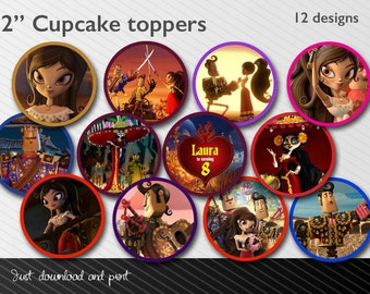 "Book of Life  2"" Cupcake toppers - Printable - Manolo - Maria - Joaquin - Catrina"