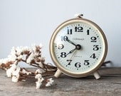 Working Vintage Alarm Clock - Gray Clock, Mechanical Clock for Home Decor
