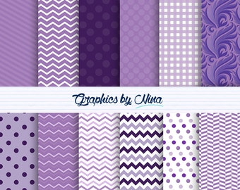 50% SALE INSTANT DOWNLOAD Tones of Purple Digital paper pack  for Personal and Commercial use Scrapbooking