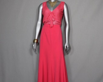 Hot Pink Vintage 2pc Skirt Suit