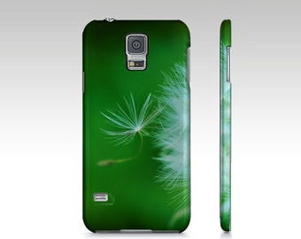Floral Green Plastic Cell Phone Case, iPhone Cover iPhone 6 & 6 Plus, iPhone 5 and 4 Case, Dandelion Samsung Galaxy Blue Cell Phone S5 S4 S3