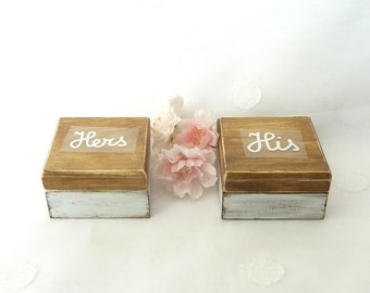 Mr and Mrs Wedding set Ring Boxes Ring Bearer Ring Boxes Wedding Ring Boxes Wedding Ring Pillow Alternative His Hers Ring Boxes burlap