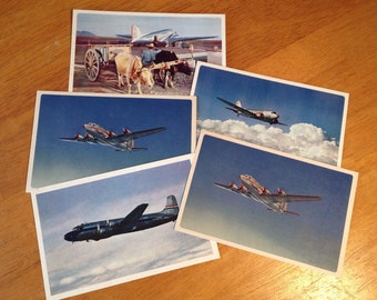 American Airlines Collectible Postcards from the 40'
