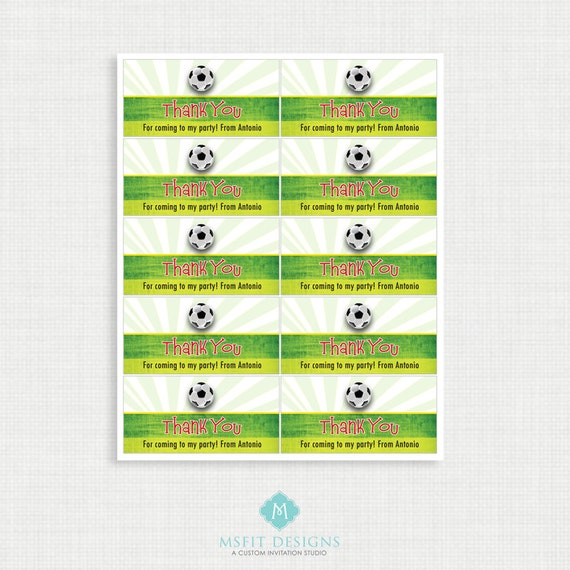 Soccer Birthday Favor Tags, Soccer Birthday Party Favor Tags, Soccer, DIY,  Printable Template, Digital