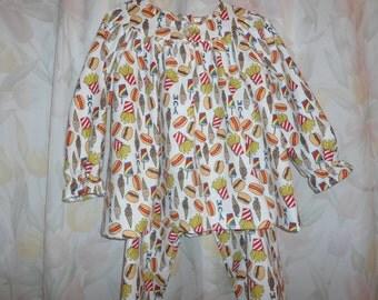 Size 5 Girls Pajamas with Yumyum