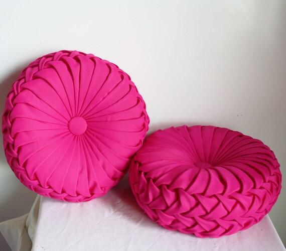 Vintage Inspired Handmade Decorative Pleated Pillow Set