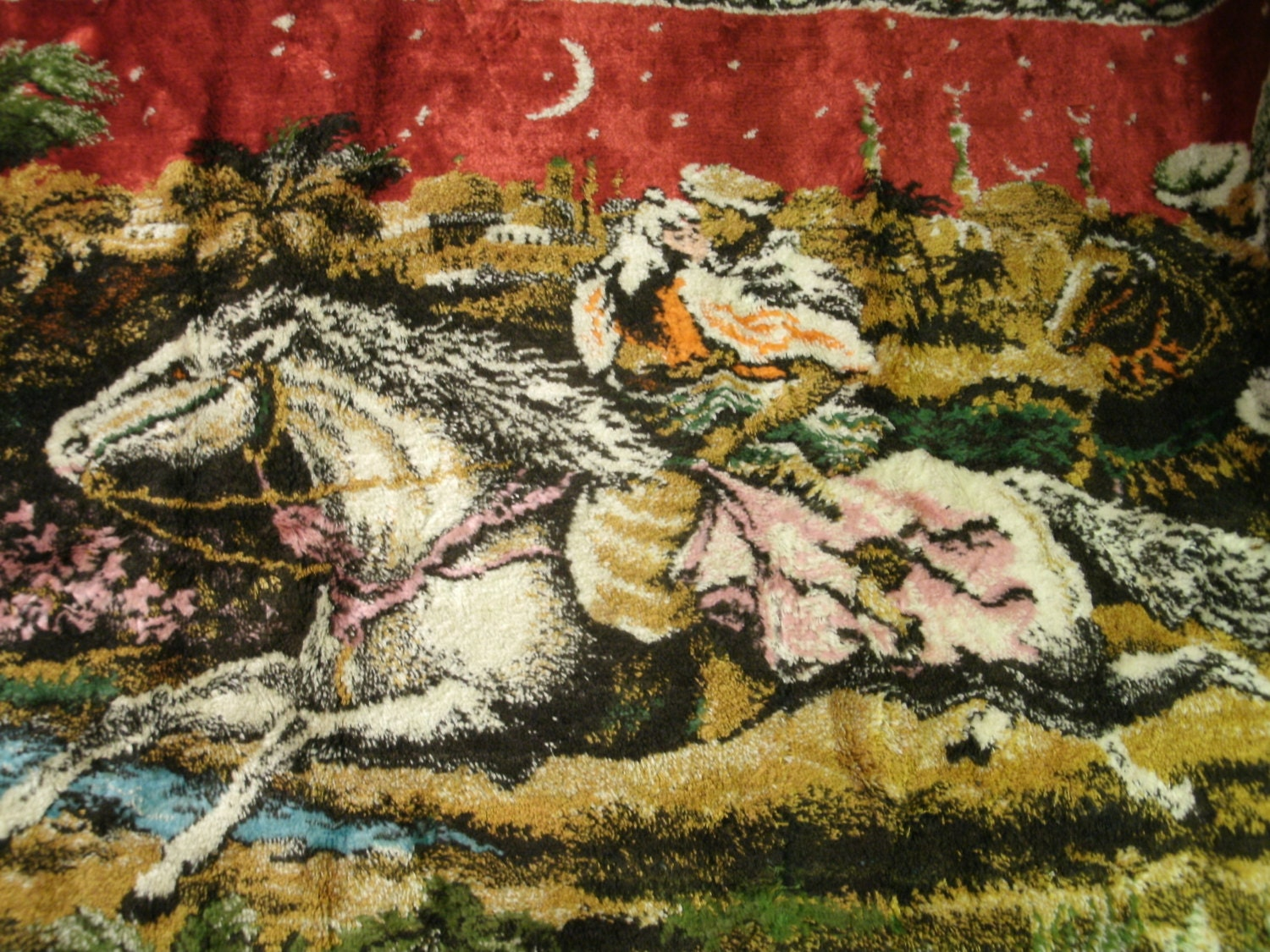 Arabian Nights Tapestry Throw Rug Wall Hanging Woven Fabric