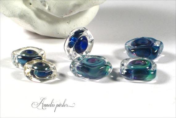 Sra handmade lampwork beads glass discs artisan lampwork for Glass discs for crafts