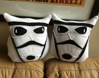 Stoom Trooper Owl-Inspired by Star Wars Storm Troopers- Star Wars Owls- Owl Plushies