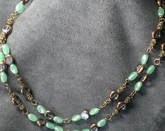 Glass and Antiqued Necklace