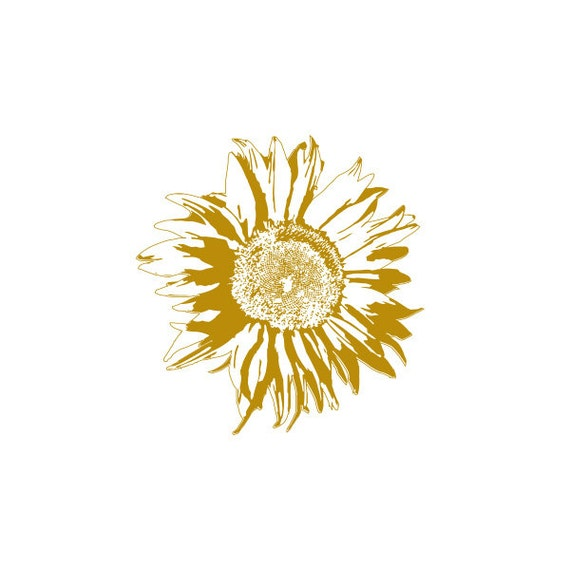 Sunflower metallic gold temporary tattoo set of 2 for Sunflower temporary tattoo
