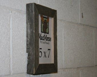"""5x7 BarnWood [Chunky x 1.25""""]  Picture Frame"""