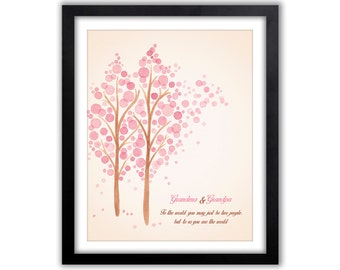 Gift For Grandma -  Gift For Grandparent - Personalized Grandparent Print - Gift From Grandkids - Any Color & Different Sizes