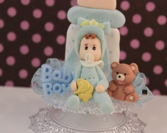 Baby Boy Shower Cake Topper/ Baby Shower/ Decoration