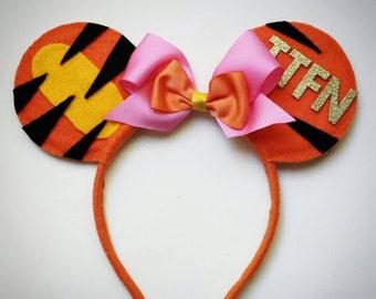 TIGGER inspired Minnie Mouse Ears Headband
