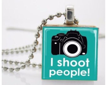 Necklace - I shoot people!