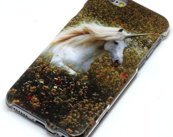 Unicorn In Flowers Phone Case iPhone 6, 6 Plus, 6S, 5, 5C, 5S, Galaxy S5, S6, Note 4