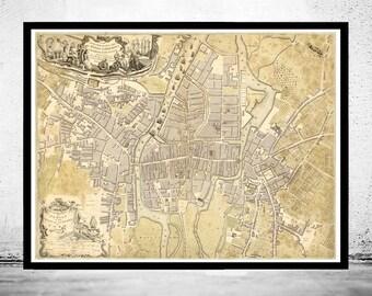 Vintage Map of Cork, Ireland 1759 Antique Vintage