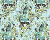 Tula Pink Acacia Raccoon on Sky Rare OOP 1 yard Fabric