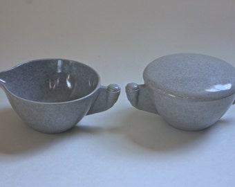 Vintage Branchell Melmac Sugar Bowl and Creamer Set/ Color-Flyte