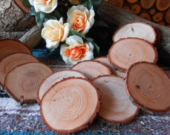 "Pine.... 25  Piece  3""   Wood Slices for crafts/weddings"