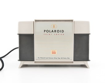 Polaroid Print Copier 240 - for use with camera models 95, 95A, 95B, 100, 150, 700, and 800. vintage home decor mid century