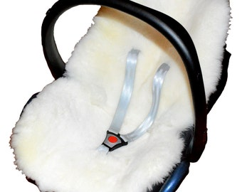 Luxury Sheepskin Pram Liner - White