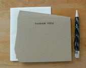 20 Flat Note Cards Thank You Cards notecards with envelopes Kraft Masculine Neutral Simple Graduation