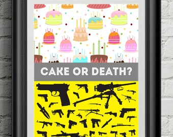 Eddie Izzard - Cake or Death Art Print Wall Decor Typography Inspirational Poster Motivational Movie