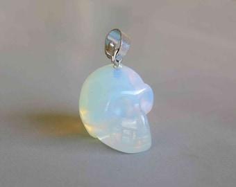 Opalite Skull Pendant - B979