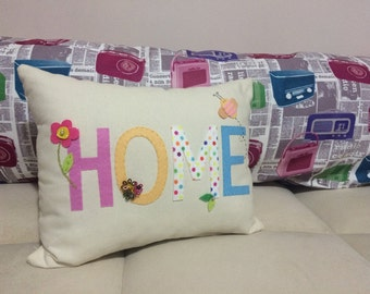 Decorative felt pillow; for your home sweet!