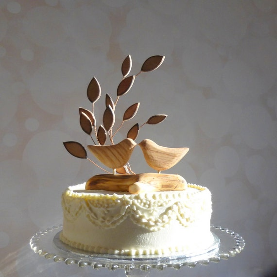 wedding cake with birds bird wedding cake topper wooden cake topper bird cake 26824
