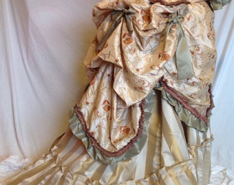 Bustle Polonaise and Skirt, Lady's Victorian  - Made to Order