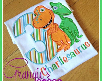 Personalized Dinosaur Train Birthday T-Shirt with Buddy and Tiny