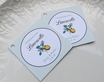 Limoncello tag,  Wedding Favor Tags, Limoncello Label, Personalized Label, Custom Tag, Limoncello favors, Product Label - Set of 20