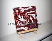 MYSTERIES-RED Ceramic Tile. Exclusive design digital art
