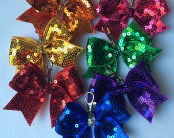 Cheer Bow Key Chain--NEW COLORS now available!!!