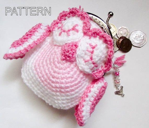 Crochet Pattern - Owl Animal Coin Purse, crohet cute purse, animal ...