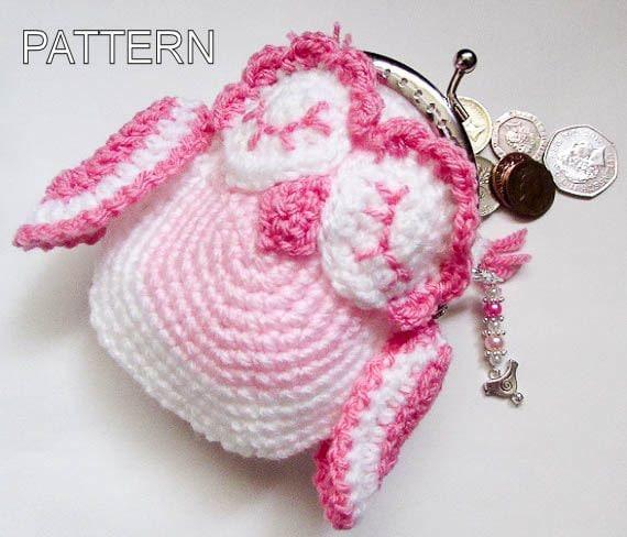 Coin Purse Crochet Pattern : Crochet Pattern - Owl Animal Coin Purse, crohet cute purse, animal ...