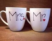 Mr Mrs Wedding Coffee Mugs