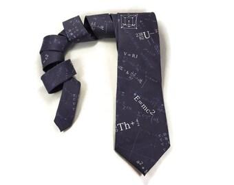 E=MC2 Tie, Physics tie, Math tie, Einstein Equation, Science tie, teacher tie, math accessory, math formula, math equation, necktie